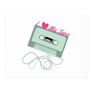 I Love Mix Tapes Post Card