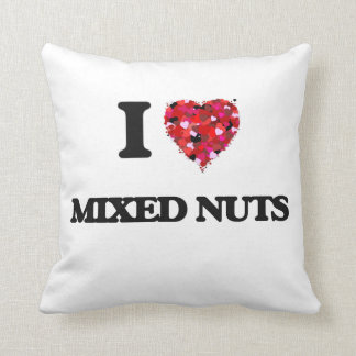 I love Mixed Nuts Throw Pillow