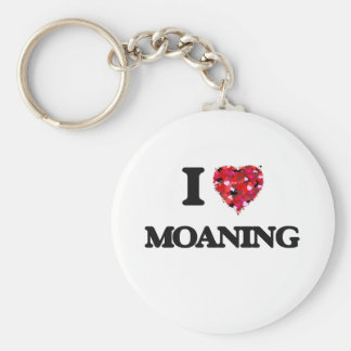I Love Moaning Basic Round Button Keychain