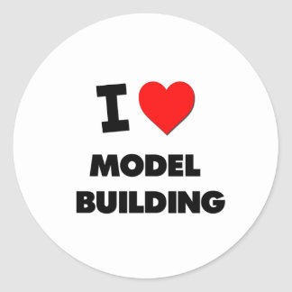 I Love Model  Building Classic Round Sticker