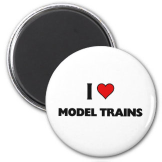 I love model trains 2 inch round magnet