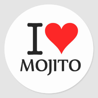 I Love Mojito 3 Round Sticker