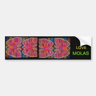 I LOVE MOLAS: BUTTERFLIES BUMPER STICKER