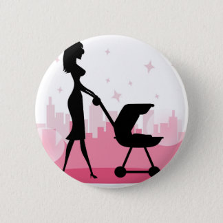 i love mom 2 inch round button