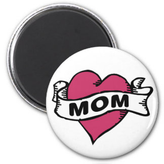 I love mom 2 inch round magnet