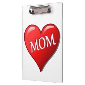 I LOVE MOM CLIPBOARD
