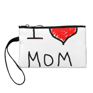 i love mom coin purse