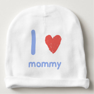 I Love Mommy Baby Beanie