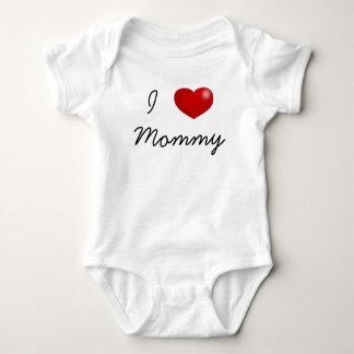 I love Mommy baby bodysuit, jumper, jersey Baby Bodysuit