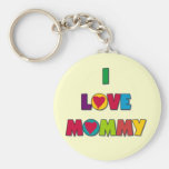 I Love Mommy Tshirts and Gifts Basic Round Button Keychain