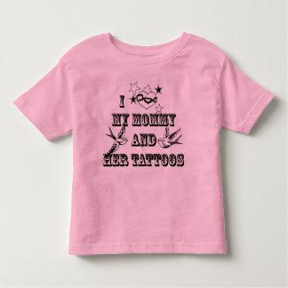 I Love Mom's Tattoos Toddler T-shirt