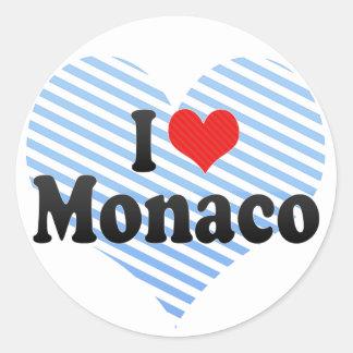 I Love Monaco Classic Round Sticker