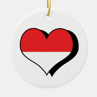 I Love Monaco Flag Ornament