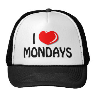 I Love Mondays Cap Trucker Hat