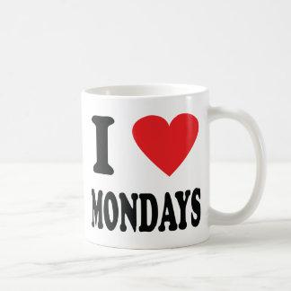 I love mondays icon basic white mug