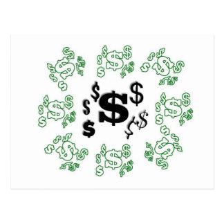 I Love Money Postcard