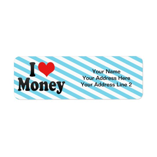 I Love Money Return Address Label