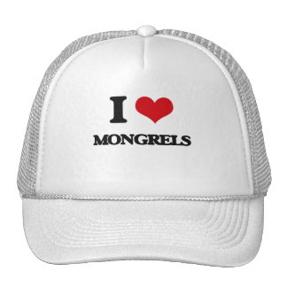 I Love Mongrels Mesh Hat