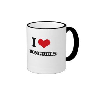 I Love Mongrels Coffee Mugs