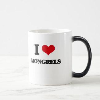 I Love Mongrels Coffee Mug