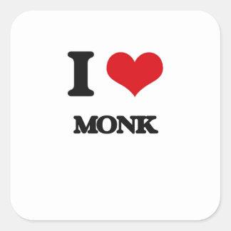 I Love Monk Square Sticker