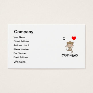 I Love Monkeys (2) Business Card