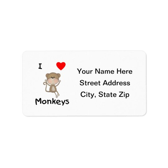 I Love Monkeys (2) Label