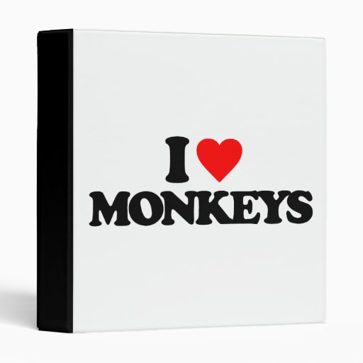 I LOVE MONKEYS BINDERS