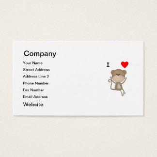 I Love Monkeys Business Card