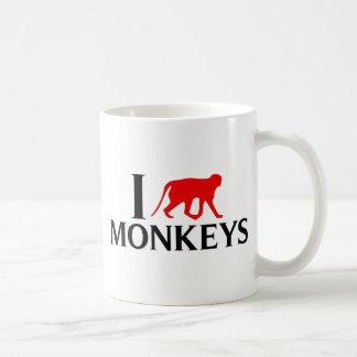 I Love Monkeys Coffee Mug