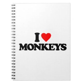 I LOVE MONKEYS SPIRAL NOTEBOOK