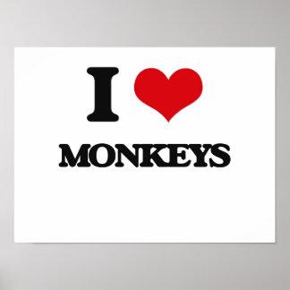 I Love Monkeys Print