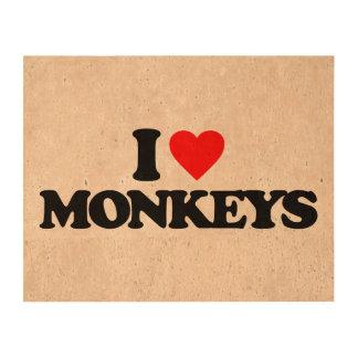 I LOVE MONKEYS CORK PAPER
