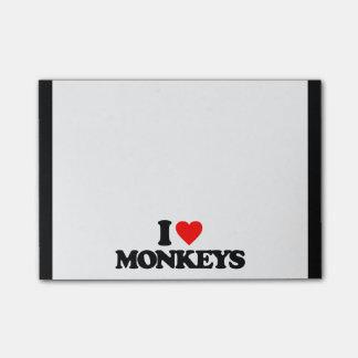 I LOVE MONKEYS Post-It NOTE