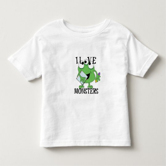 I LOVE MONSTERS TODDLER T-SHIRT