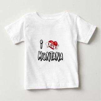 I Love Montana Baby T-Shirt
