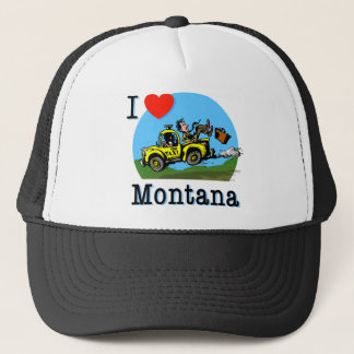 I Love Montana Country Taxi Trucker Hat