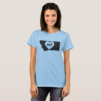 I Love Montana State Women's Basic T-Shirt
