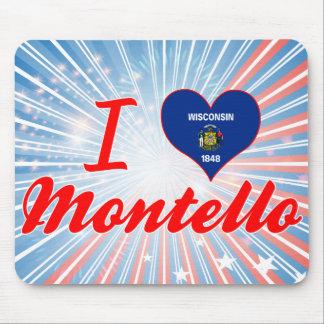 I Love Montello, Wisconsin Mouse Pad
