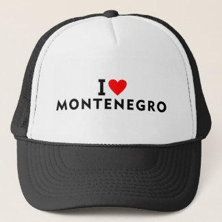 I love Montenegro country like heart travel touris Trucker Hat