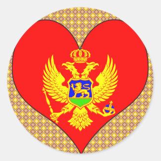 I Love Montenegro Round Sticker