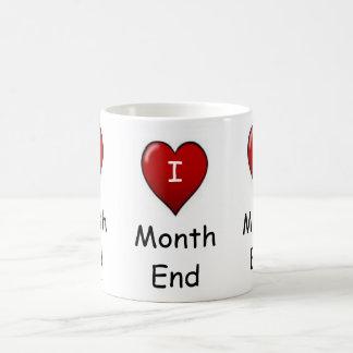 I Love Month end! Basic White Mug