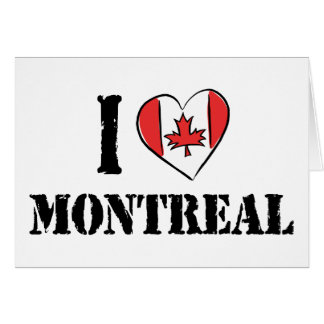 I Love Montreal Canada Greeting Card