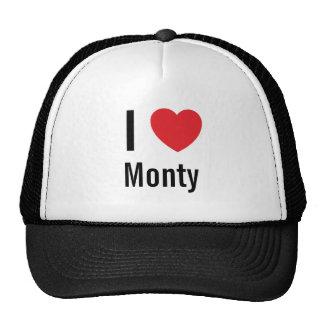 I love Monty Trucker Hat