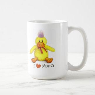 """""""I love Monty"""" white mug"""