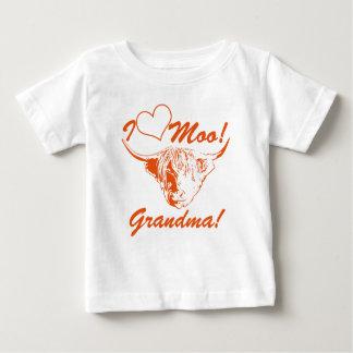 I Love Moo Grandma! Personalized Highland Cow Baby T-Shirt