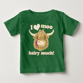 I Love Moo Highland Cow Baby T-Shirt