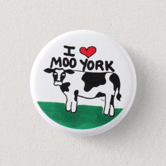 I Love Moo York 1 Inch Round Button