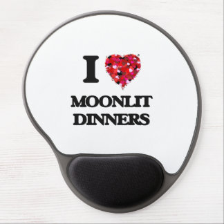 I Love Moonlit Dinners Gel Mouse Pad