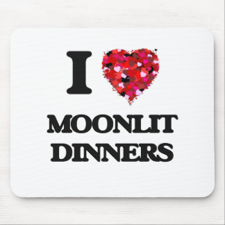 I Love Moonlit Dinners Mouse Pad